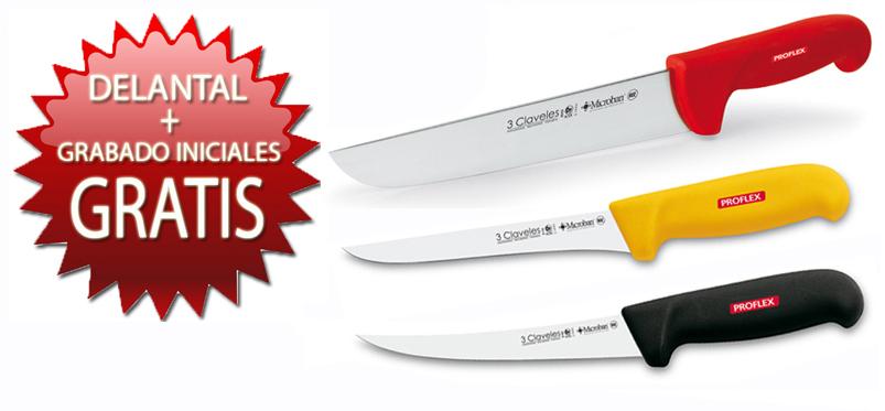 Oferta cuchillos de cocina 3 Claveles